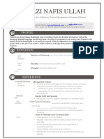 One Page Excellent Resuem Sample for MBA - Sales & Marketing