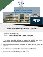 Presentation MIT Shimadzu Laboratory