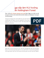 Ryan Giggs Sắp Làm HLV Trưởng Đội Tuyển Nottingham Forest