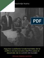 Nexhmije Hoxha; Algunas cuestiones fundamentales de la política revolucionaria del Partido del Trabajo de Albania sobre el desarrollo de la lucha de clases, 1977
