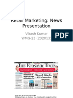 Retail Marketing News from India
