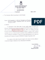 Ugc Notification for Ph.D