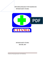 Pedoman Pengorganisasian Radiologi RS. CITAMA