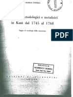 TONELLI-Elementi Metodologici e Metafisici in Kant Dal 1745 Al 1768