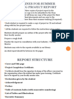 =Summer Training Project Report Guidelines ...odp