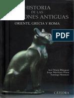 Blázquez Jose María. Historia de Las Religiones Antiguas. Oriente, Grecia y Roma