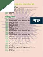 Programme du Festival des Hautes Terres