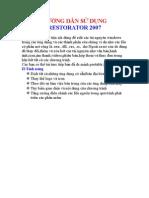 HƯỚNG DẪN SỬ DỤNG RESTORATOR 2007
