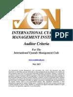 Cyanide AuditorCriteria