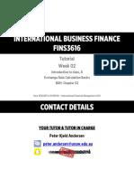 (2016-S1) - FINS3616 - Tutorial Slides - Week 02 - Introduction + FX Bas...