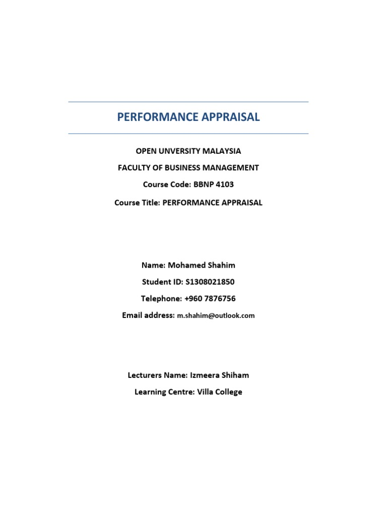 michael and yost performance appraisal model