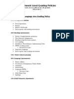 department level grading policies  1