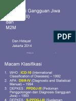 Dr. Dan Hidayat - Klasifikasi G J 2014 +M2M