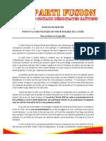 Position Du PFSDH 21 Juin 2016