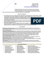 Director Program Project Management in Dallas Ft Worth TX Resume Patrick Chance