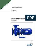Ksb Etabloc Installation Manual
