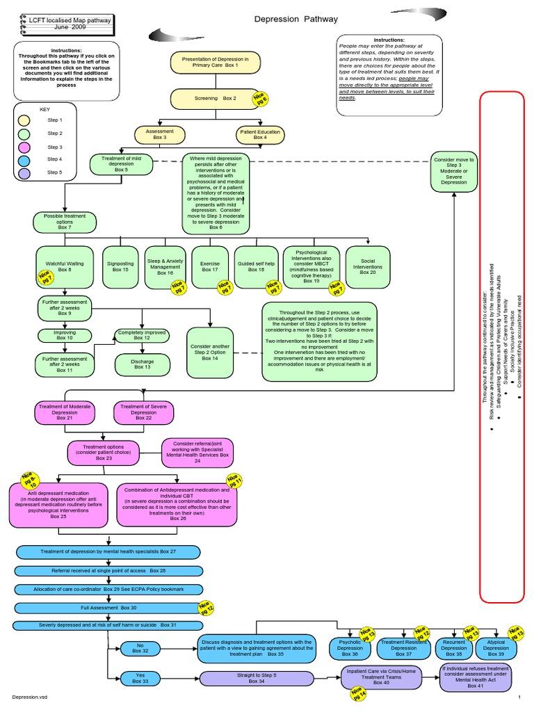 Depression Care Pathway | Major Depressive Disorder ...