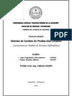 Tesis de Grado - Sistema de Gestión de Producción Creativa