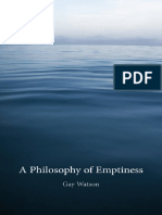 Watson, Gay - A Philosophy of Emptiness