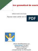 Análsis Sintáctico Gramatical de Oraciones