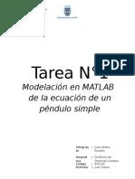 Modelación en MATLAB de la ecuación de un péndulo simple