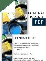 Pertemuan 14 Dan 15 General Invers