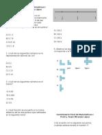 Cuestionario Final de Matemáticas I