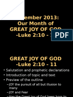 Great Joy of God