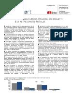 Lingua Italiana, Dialetti e Altre Lingue - 27-Ott-2014 - Testo Integrale
