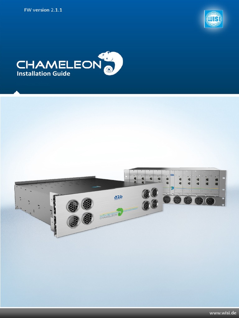 Chameleon Manual and Installation Guide 211 | Multicast | Ip Address