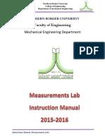 04 Instruction Manual of Measurements Lab