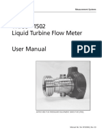 Nuflo 1502 flow meter User Manual
