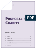 Charity Proposal Template
