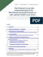 Anuschek, Rechtsprechung LAG MV 2009-2010 Stand 2010-05-10
