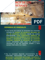 1. Demanda de Los Minerales