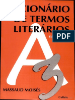 MOISÉS, M - Dicionário de Termos Literários