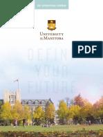 University of Manitoba 2017 International Viewbook
