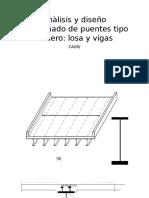 Anàlisis y Diseño Aproximado de Puentes Tipo Tablero