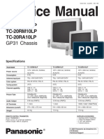 Tv Panasonic_tc14rm10lp, Tc20rm10lp, Tc20ra10lp Chassis_gp31 - Sm