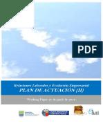 Relaciones Laborales y Evolucion Empresarial. PLAN DE ACTUACION II