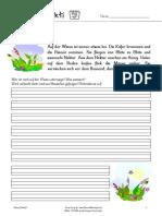 Wiese Diktat D - Einfache Diktate in einfacher Sprache