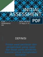 Initial Assasment (Referat)
