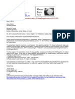 10-05-19 Letter to Secretary of State Hillary Clinton, Assistant Secretary Michael Posner RE