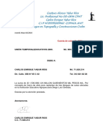 Cuenta de Cobro Constructora Sinatel Ltda.2016 I.E. DIEGO LUIS CORDOBA Acandi Choco