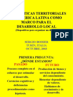 Boisier Las Politicas Territoriales