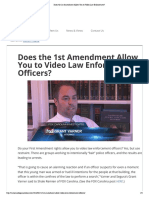 Does the 1st Amendment Allow You to Video Law Enforcement