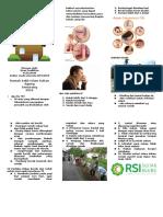 Leaflet penyuluhan lingkungan yang sehat bagi penderita TBC
