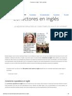 Conectores en Inglés - Tipos y Ejemplos