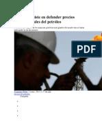 Del Pino Insiste en Defender Precios Internacionales Del Petróleo