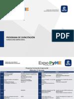 Programa Formación Empresarial Expo PyME MTY 2016